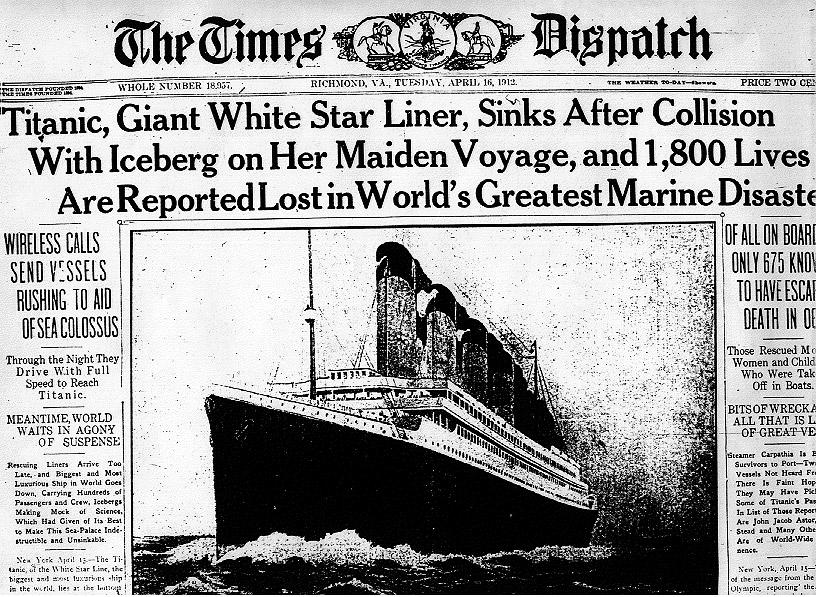 Titanic kazasının 100. yıl dönümü…