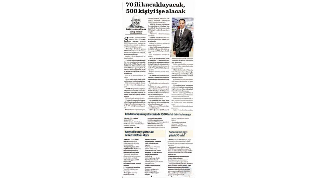 Dünya Gazetesi Sayın Vahap Munyar'la sohbet 12 Mayıs 2021